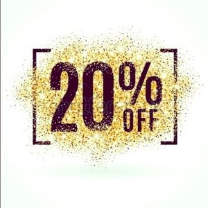 Bundle two items in my closet and receive 20% off!